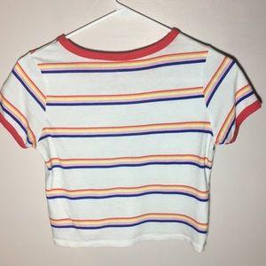 PacSun Tops - Multicolored striped crop top
